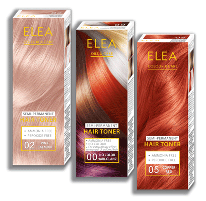 Semi-Permanent HAIR TONER Series ELEA 100 ml