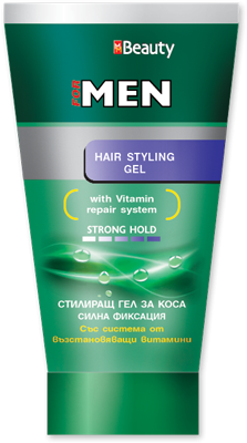 "Hair Styling Gel Hair Styling Gel For Men Strong Hold ""mm Beauty"" 150 G  Solvex ."