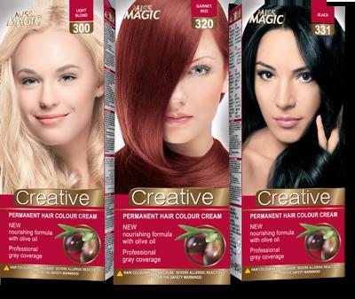Permanent Hair Colour Cream Miss Magic Creative 90 G Solvex